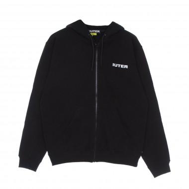 zipped hoodie man double logo zip hoodie