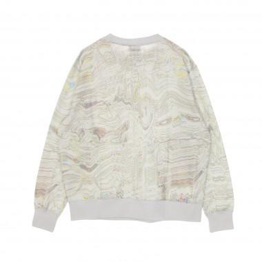 felpa girocollo donna w sportswear trend fleece crew all over print