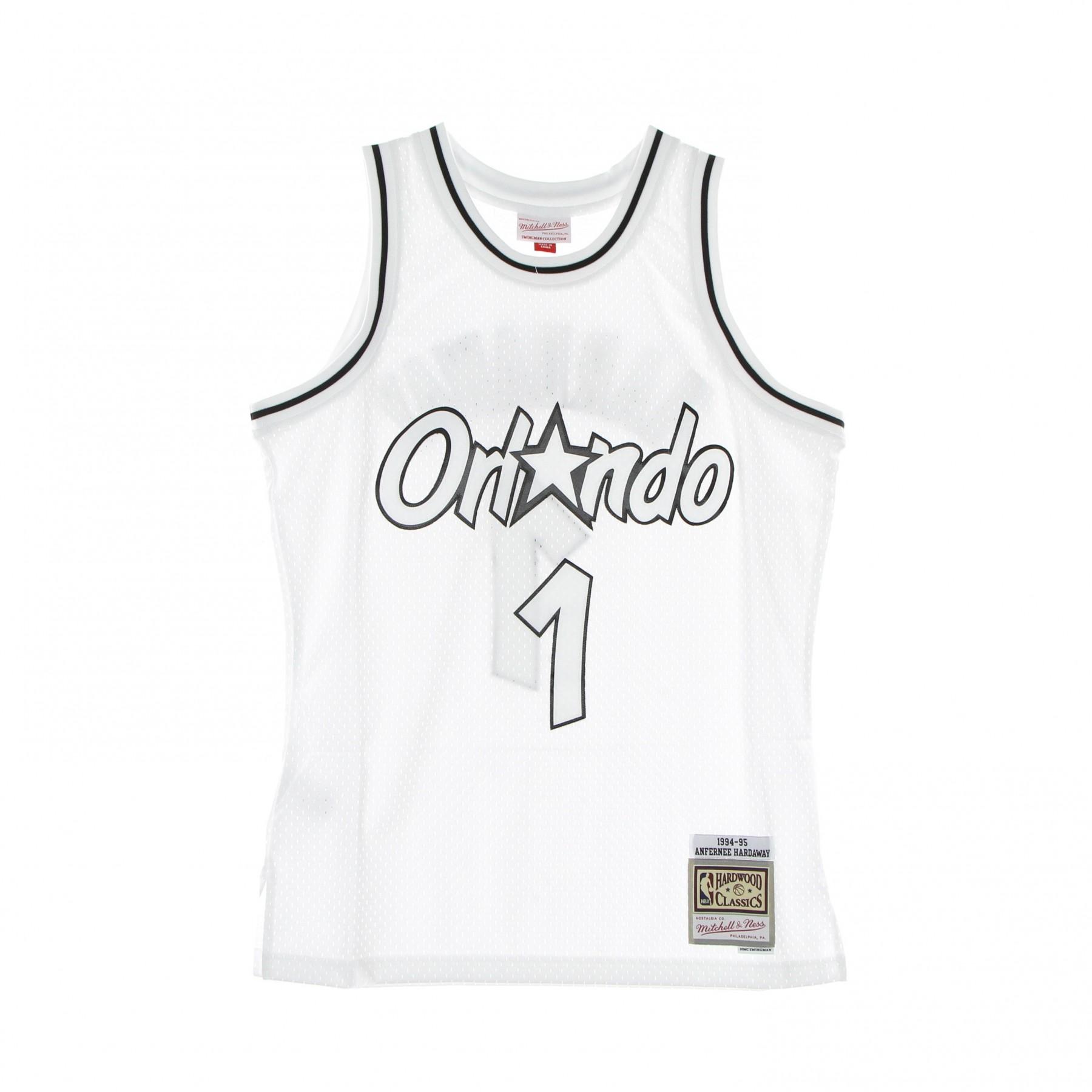 canotta basket uomo nba white black swingman jersey hardwood classics no 1 penny hardaway 1994-95 orlmag XL