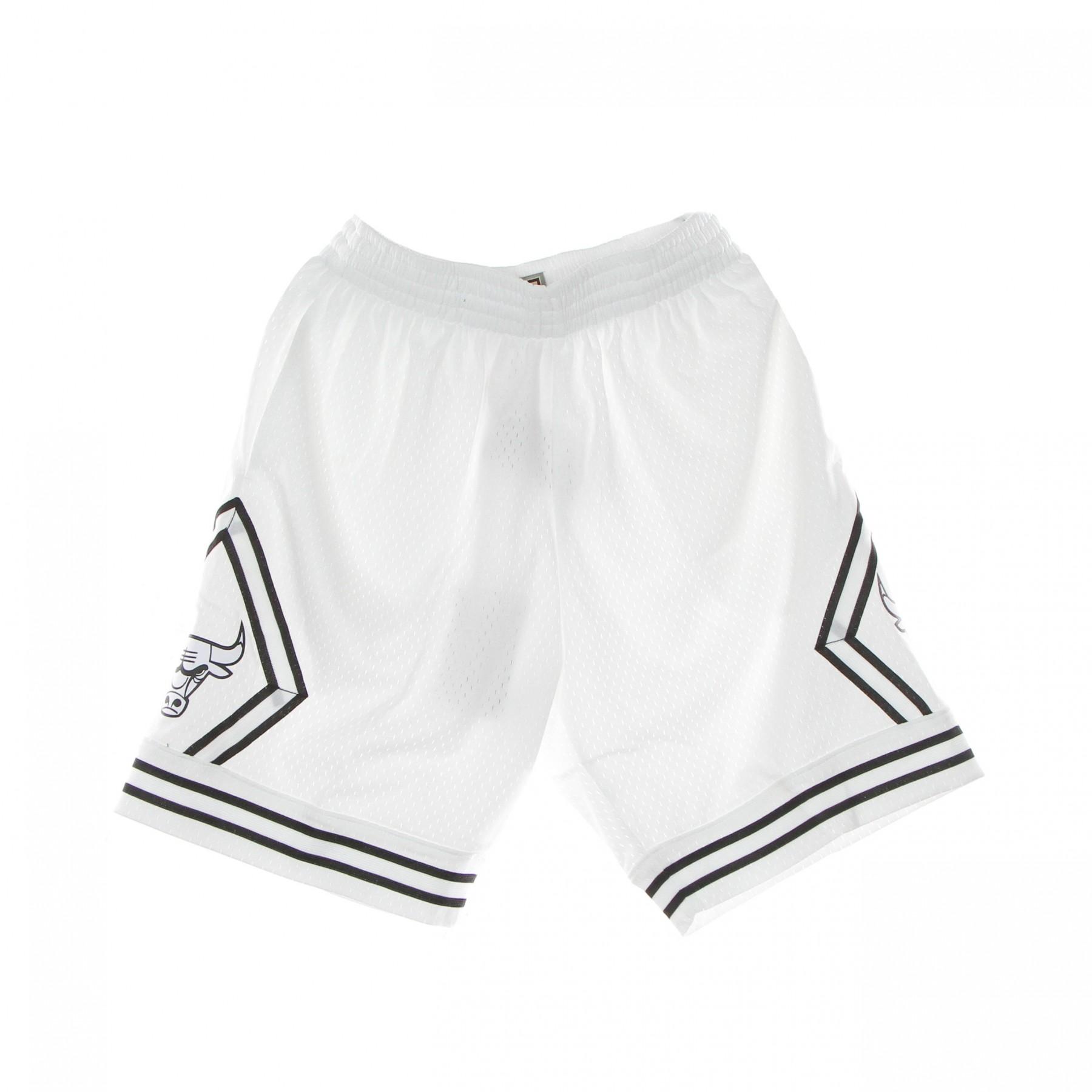 pantaloncino basket uomo nba white black swingman shorts hardwood classics chibul XL