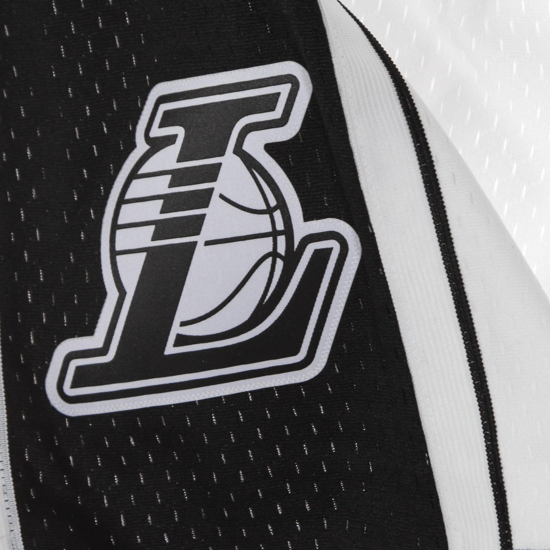 pantaloncino basket uomo nba white black swingman shorts hardwood classics loslak XL