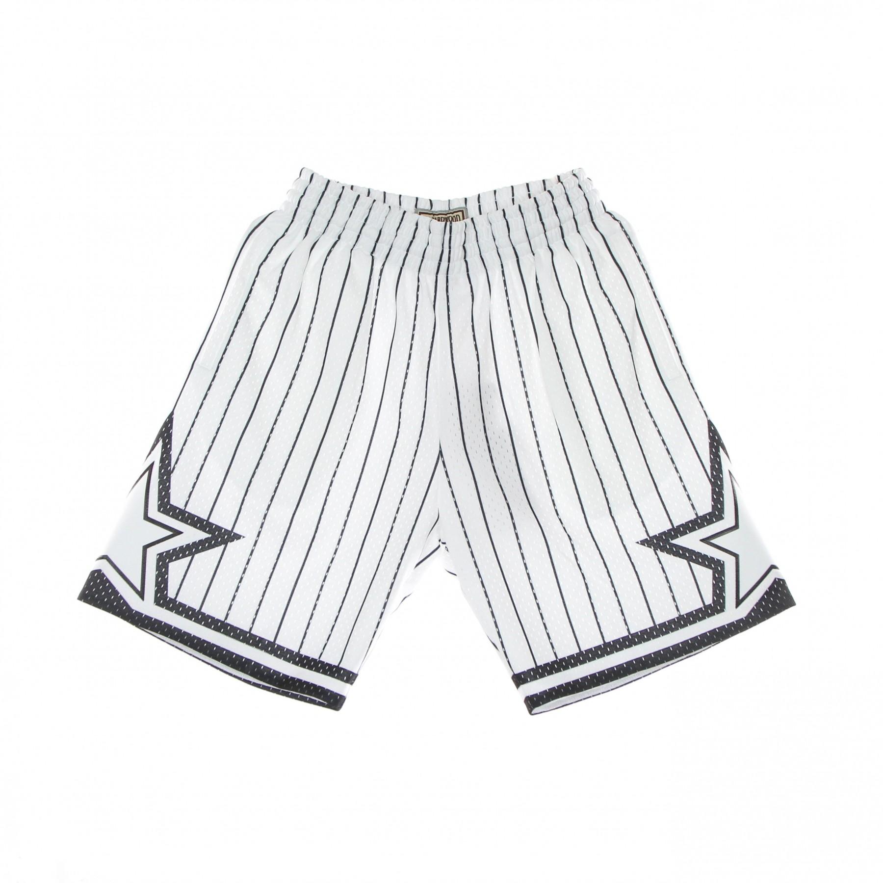 pantaloncino basket uomo nba white black swingman shorts hardwood classics orlmag XL