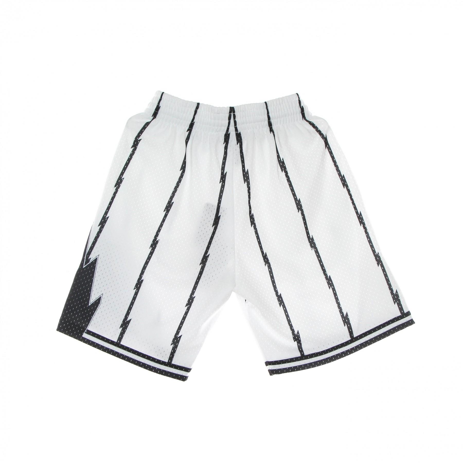 pantaloncino basket uomo nba white black swingman shorts hardwood classics torrap XL