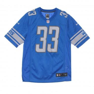 casacca football americano uomo nfl game team colour jersey no.33 johnson detlio