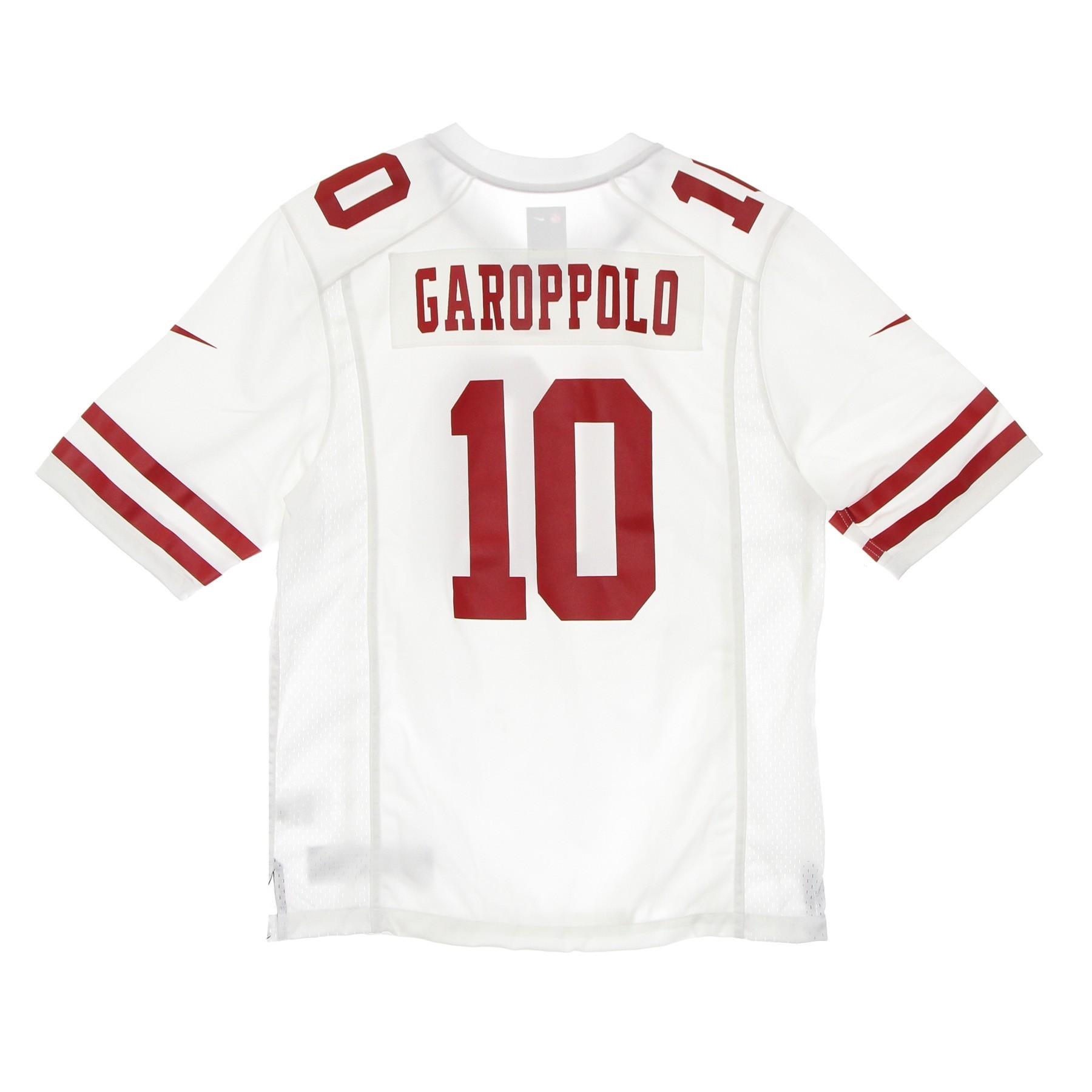 casacca football americano uomo nfl game road jersey no.10 garoppolo saf49e M