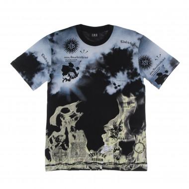 t-shirt man clouds & flames tee