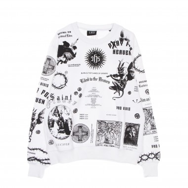 lightweight crewneck sweatshirt  man solid manifesto sweatshirt