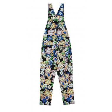 overall man flower child cotton twill overalls