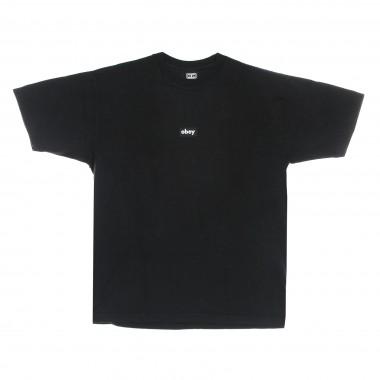 t-shirt man black bar heavyweight tee