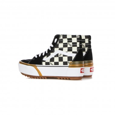 high sneaker lady sk8-hi stacked (checkerboard)