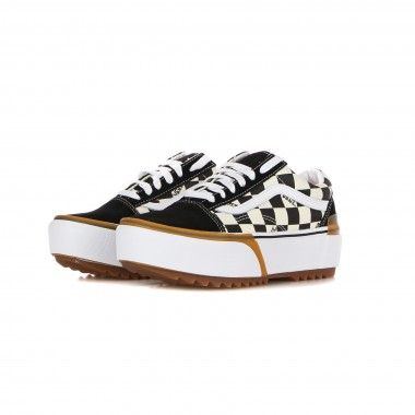 low sneaker lady old skool stacked (checkerboard)