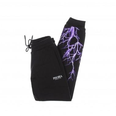 lightweight tracksuit trousers  man purple lightning pants