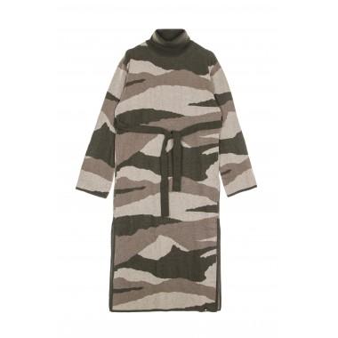 vestito donna olen camo dress
