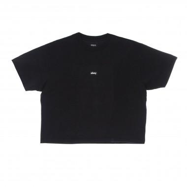 short t-shirt lady tag custom crop tee