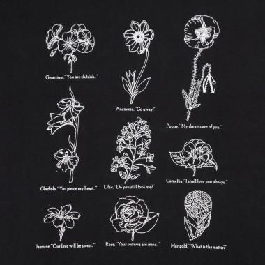 t-shirt lady flower packet choice box tee