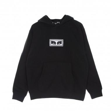 hoodie man eyes logo hood specialty fleece