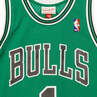basketball jersey man nba swingman jersey st patrick day hardwood classics no.1 derrick rose 2008-09 chibul alternate