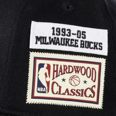 curved visor cap man nba the jockey redline classic stretch snapback hardwood classics 1993-05 milbuc
