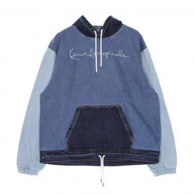 jackets man originals block denim hoodie