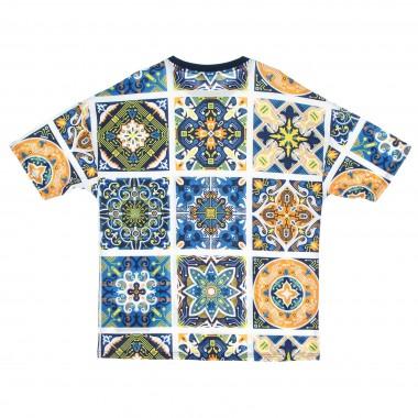 maglietta uomo maioliche pattern tee 42