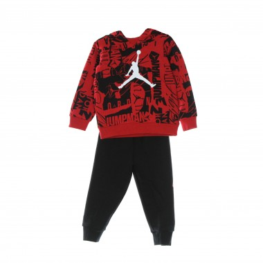 complete suit kid essentials fleece all over print set