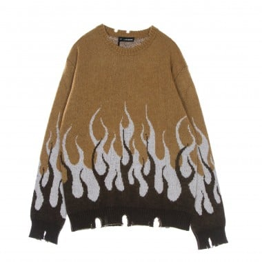 sweater man double flames jumper