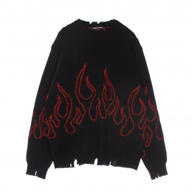 sweater man red flames jumper