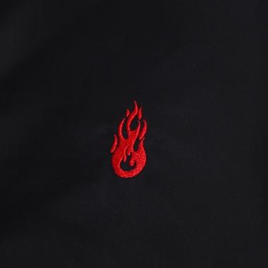 bomber jacket man red flames bomber