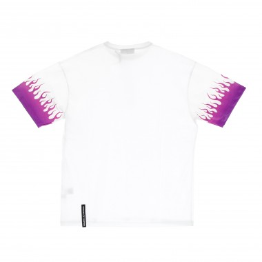 t-shirt man shaded purple flames tee