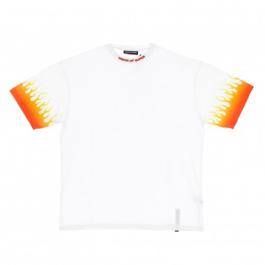t-shirt man shaded red flames tee