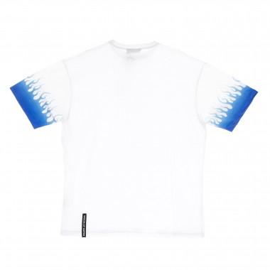 t-shirt man shaded blue flames tee