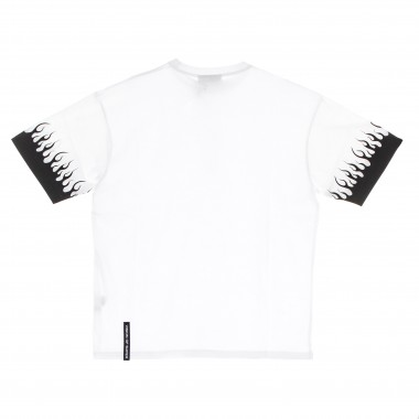 t-shirt man black flames tee