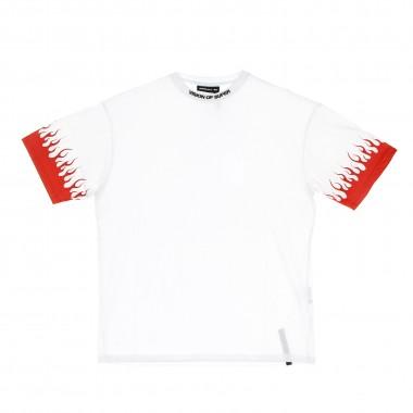 t-shirt man red flames tee