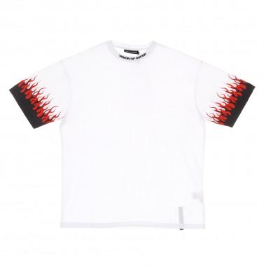 t-shirt man double flames tee