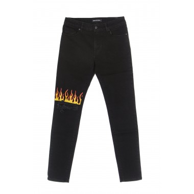 jeans man yellow red flame front vintage denim