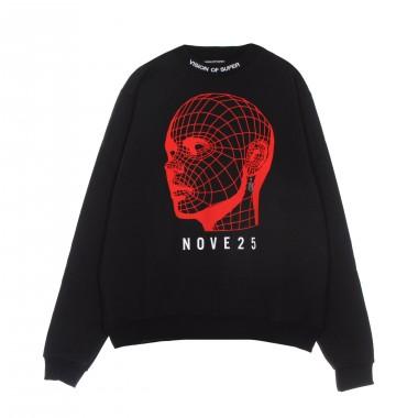 lightweight crewneck sweatshirt  man red face crewneck x nove25