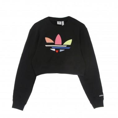 felpa leggera girocollo corta donna sweatshirt One Size