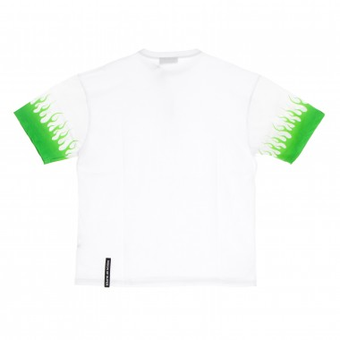 maglietta uomo shaded green flames tee M