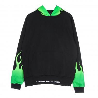 lightweight hoodie man green shaded flames hoodie