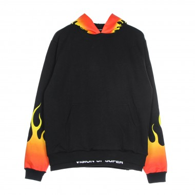 lightweight hoodie man red shaded flames hoodie