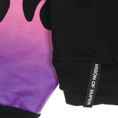 lightweight hoodie man purple shaded flames hoodie
