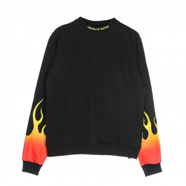 lightweight crewneck sweatshirt  man red shaded flames crewneck