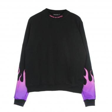 felpa leggera girocollo uomo purple shaded flames crewneck XL