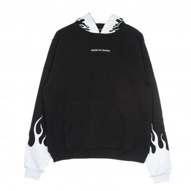 felpa leggera cappuccio uomo white flames hoodie XL