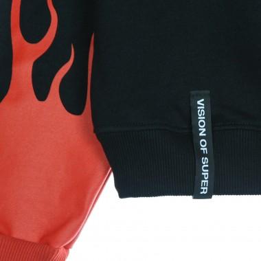 lightweight hoodie man red flames hoodie