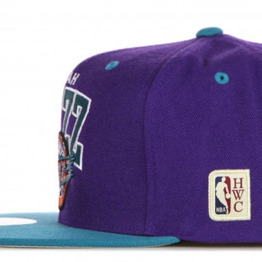 flat visor cap man nba team arch snapback hardwood classics utajaz