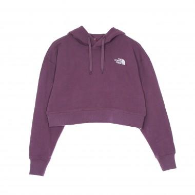 felpa cappuccio corta donna trend crop hoodie M