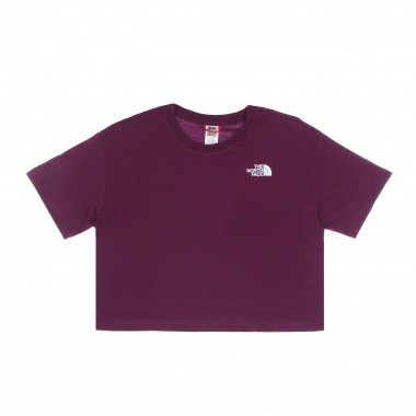 short t-shirt lady cropped simple dome tee