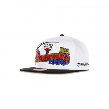 flat visor cap man nba 96 champions wave 2t snapback hardwood classics chibul