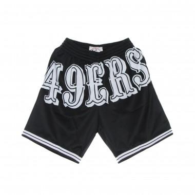 pantaloncino tipo basket uomo nfl big face 3.0 fashion short saf49e One Size